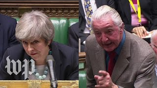 'A stunning display of pathetic cowardice': Theresa May's rough day in Parliament