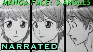 How to Draw a Manga Face: 3 Different Angles [Male]