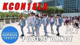 [KPOP IN PUBLIC] KCON18LA Public Dance Set 1 - Energetic + Heartshaker + Bbboom Bboom