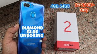 Realme 2 diamond blue 4gb 64gb unboxing & hands on experience