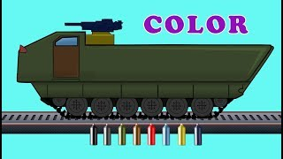Kids TV Channel | Armored Motorized |  Learn Colors with Vehicles | Coloring Videos For Kids