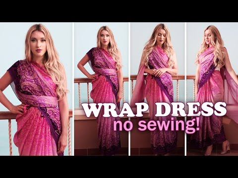 Xxx Mp4 Summer Wrap Dresses Without Sewing ★ How To Drape A Saree 3gp Sex