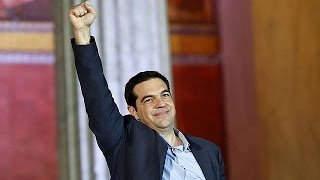 Tsipras pledges end to 'vicious cycle of austerity' at victory speech in Greece