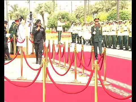 PM Modi at the Ceremonial Reception in Riyadh, Saudi Arabia
