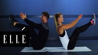 How to Get Nina Agdal's Flat Stomach | Supermodel Fit | ELLE