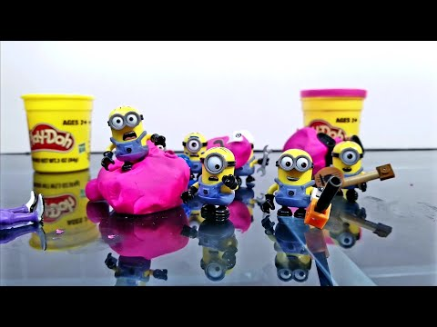 Despicable Me 3 Toys! (Part 2) Evil Bratt fights Gru and the Minions Play-Doh Fun!