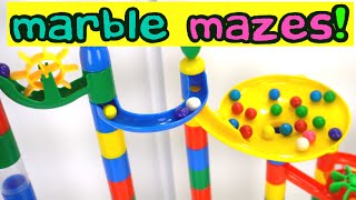 Giant Marble Mazes Teach Colors & Counting!