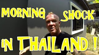 Morning Shock in THAILAND !  - Sunny's Thailand VLOG # 28