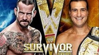 wwe cm punk vs alberto del rio survivor series highlights HD