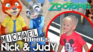 Michael Meets Nick & Judy from ZOOTOPIA!!