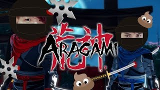 Aragami《荒神》雙人模式搞笑精華 - 灑尿忍者!?![老吳 x RED]