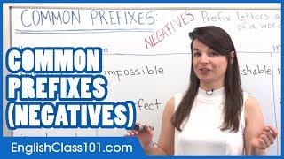Negative Prefixes - Learn English Grammar