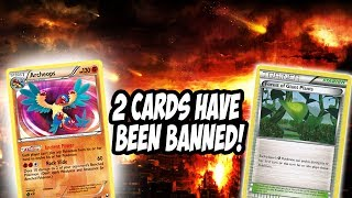2 CARDS IN EXPANDED ARE BANNED! Forest of Giant Plants & Archeops! WOW!