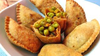 नाश्ते में बनाये सूजी की जबरदस्त मटर गुजिया जिसे देखते ही बनाने भागोगे Matar gujiya breakfast snacks