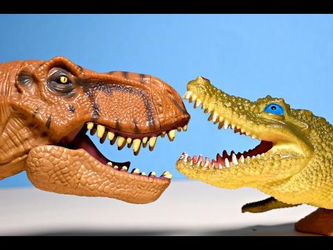 SHARK VS DINOSAURS ATTACK CROCODILE T Rex Dinosaur Jaws Sharky Toy Alligator