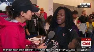 HURRICANE HARVEY SURVIVOR GOES OFF ON CNN REPORTER