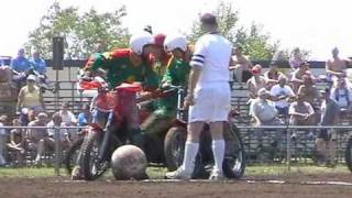 EK MOTOBALL 2001; Frankrijk - Litouwen, manche 1 & 2.