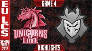 Unicorns of Love vs G2 Highlights Game 4 - EU LCS Spring Finals 2017 UOL vs G2 G4