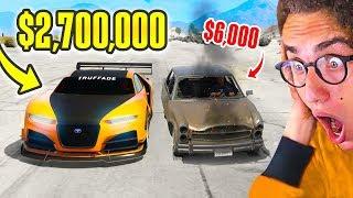 $6,000 CAR vs. $2,700,000 SUPERCAR in GTA 5!