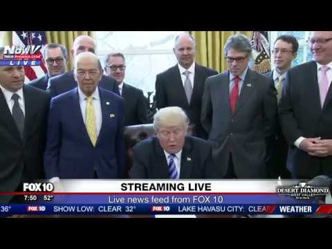 WATCH President Trump Issues Presidential Permit For Keystone XL Pipeline FNN