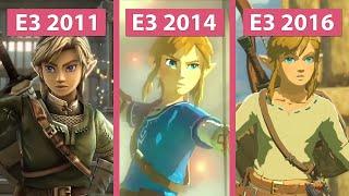 The Legend of Zelda – Breath Of The Wild E3 2014 2016 & 2011 Tech Demo Trailer Graphics Comparison