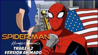 Spiderman Homecoming -Trailer 2 Versión Animado - Español Latino HD