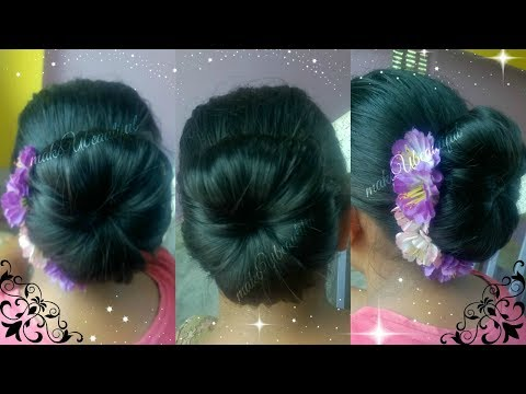 Xxx Mp4 EASY ELEGANT HAIR BUN FOR MEDIUM LONG HAIR TUTORIAL INDIAN HAIRSTYLE FOR SAREE PARTY HAIRSTYLE 3gp Sex
