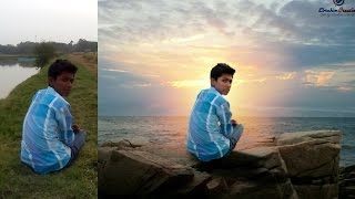 Picsart photo manipulation | Boy sit on the rock | Picsart editing tutorial