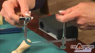 Inserting a Saw Blade into a Jeweler's Saw Frame