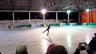 Anup Kumar Yama Senior Gold Medalist 12th National Ice Skating Championship 2015-16, Gulmarg-J&K.