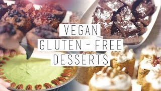 4 Gluten Free, Vegan, Healthy Desserts // Brownies, Carrot Cake etc. | chanelegance