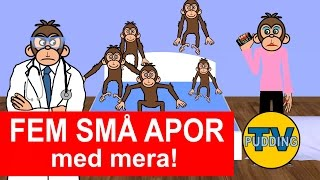 Fem små apor med mera | Barnsånger på svenska