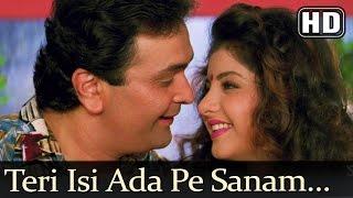 Teri Isi Ada Pe Sanam (HD) - Deewana Song - Shahrukh Khan - Rishi Kapoor - Divya Bharti