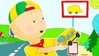 Caillou and the School bus | Funny Animated cartoons Kids | WATCH ONLINE | Cartoon for Children