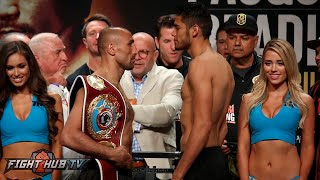 Arthur Abraham vs. Gilberto Ramirez Full Weigh in & Face Off - Pac Bradley undercard weigh ins