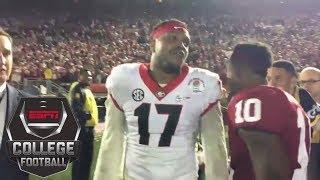 Georgia linebacker yells