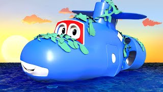 The SUBMARINE - Carl the Super Truck in Car City! Superhero Truck Video for Children Cartoons