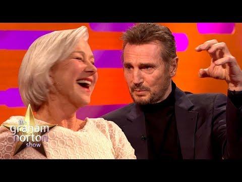 Liam Neeson Discusses His Sex Scene with Ex Girlfriend Helen Mirren The Graham Norton Show