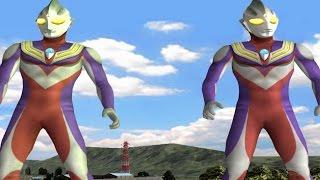 Ultraman Tiga & Tiga - TAG Battle Mode ★Play ウルトラマン FE3