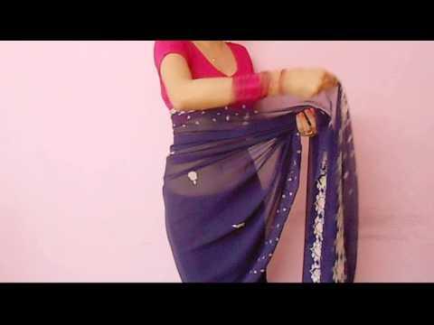 Saree Video-How To Wear A Sari/Saree Wraping Video Tutorial For Beginners/Saree Drape