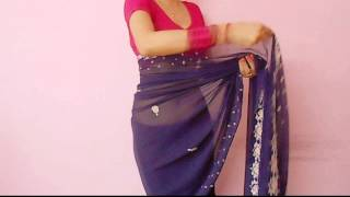 Saree Video-How To Wear A Sari/Saree Wraping Video Tutorial For Beginners/Saree Drape