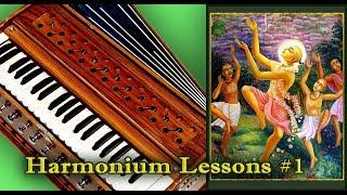 Learn Easy Hare Krishna tune. Harmonium Lessons #1
