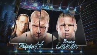 WWE-Triple H vs Brock Lesnar Highlights Wrestlemania 29  HD