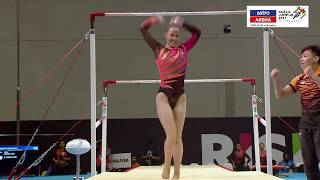 Gimnastik Artistik Berpasukan | Uneven Bars | Pingat Emas | KL 2017 | Astro Arena