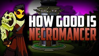 How Good Is Buffed Necromancer? (AQW Class Review/Guide)