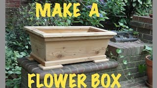 Making a planter or garden box from reclaimed recycled cedar