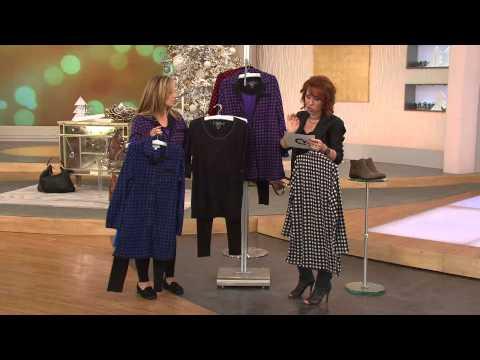 Carole Hochman Petite Pajama Set with Fleece Jacket Knit Top & Leggings with Sharon Faetsch