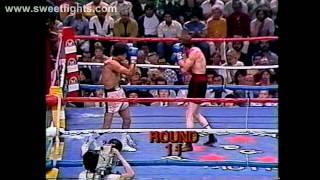 Salvador Sanchez vs Danny Red Lopez 1 KNOCK OUT tko