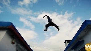 Powerful FreeRunning Stunts Chase Style