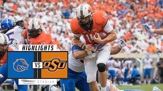 #17 Boise State vs #24 Oklahoma State Football Highlights (2018) | Stadium